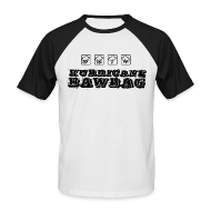 T-Shirts ~ Men's Baseball T-Shirt ~ Hurricane Bawbag Symbols