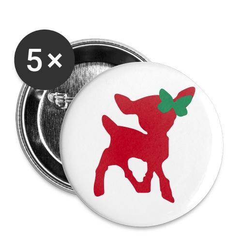 Christmas Deer [friswit.nl] - Buttons middel 32 mm (5-pack)