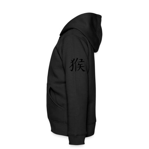 Veste à capuche Premium Enfant - tirer des signes astrologique chinois, qui signifie, singe.