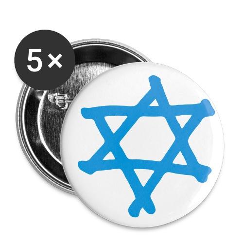 Davidstern 2 - Buttons mittel 32 mm