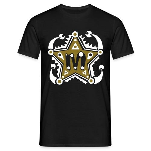 M-Initialien-Anfangsbuchstabe-Name-Initial-Letter - Männer T-Shirt