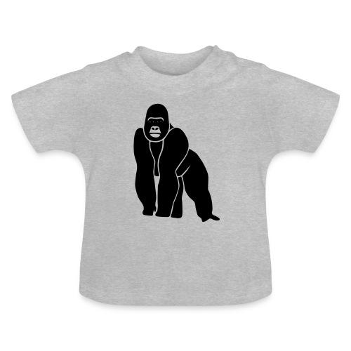 tier t-shirt gorilla affe monkey king kong godzilla silberrücken orang utan schimpanse ape - Baby T-Shirt