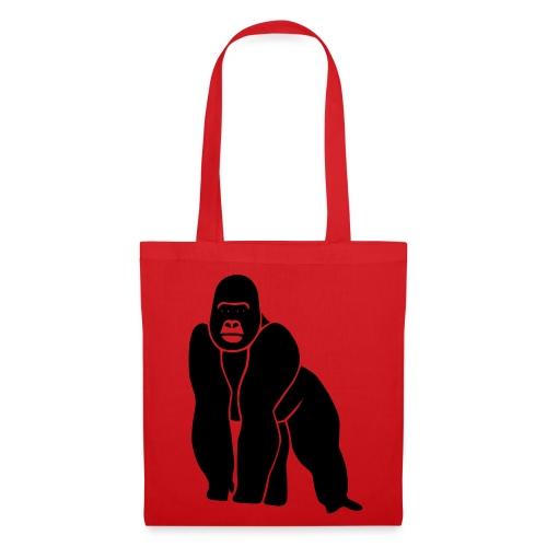 tier t-shirt gorilla affe monkey king kong godzilla silberrücken orang utan schimpanse ape - Stoffbeutel