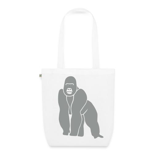 tier t-shirt gorilla affe monkey king kong godzilla silberrücken orang utan schimpanse ape - Bio-Stoffbeutel