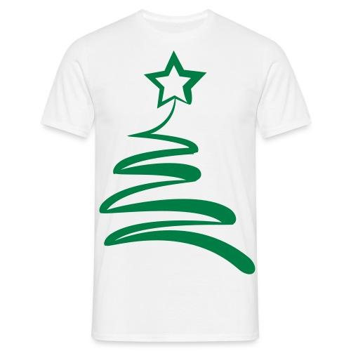 CHRISTMAS TREE SCRIBBLE (MEN)* - Men's T-Shirt