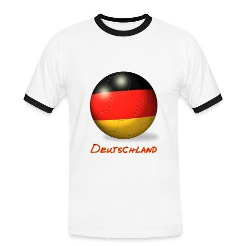 Deutschland Ball Shirt - Männer Kontrast-T-Shirt