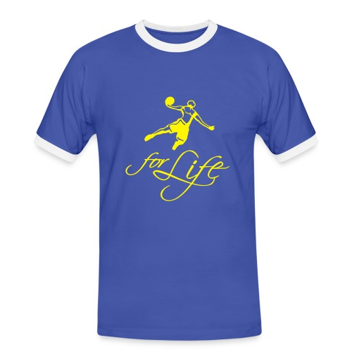 Basketball for life Shirt - Männer Kontrast-T-Shirt