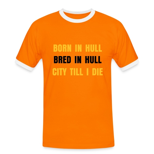 CITY TILL I DIE FOOTIE T - Men's Ringer Shirt