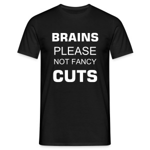 Brains please!!! - Männer T-Shirt