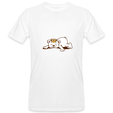 small bear with a golden crown sleeps T-Shirts