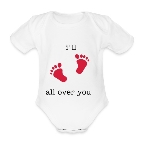 little walker - Organic Short-sleeved Baby Bodysuit