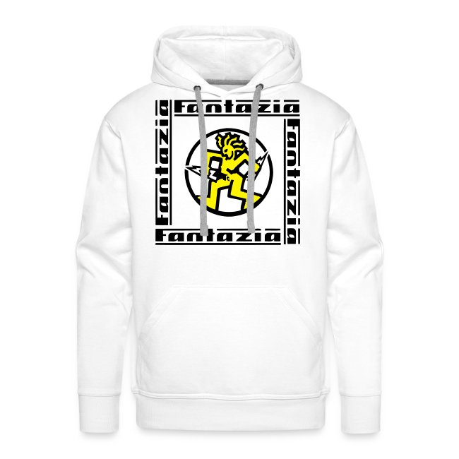 Fantazia Square logo Hoodie with Dancing Man logo