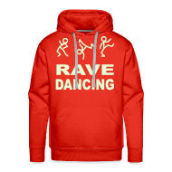 Hoodies & Sweatshirts ~ Men's Premium Hoodie ~ Rave Dancing Stick Figure Hoodie (Glow in the dark)