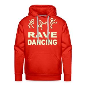 Rave Dancing Stick Figure Hoodie (Glow in the dark) - Men's Premium Hoodie
