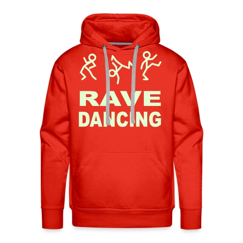 Rave Dancing Stick Figure Hoodie (Glow in the dark) - Men's Premium Hoodie