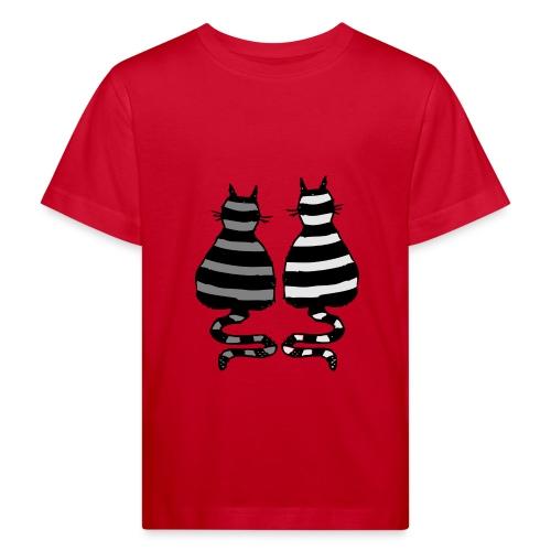 katzenpaar kids - Kinder Bio-T-Shirt