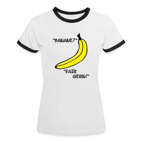banane woman t-shirt - Frauen Kontrast-T-Shirt