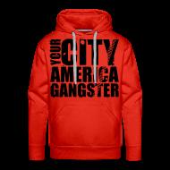 Sweat-shirts ~ Sweat-shirt à capuche Premium pour hommes ~ Sweat-shirt à capuche homme your city america gangster