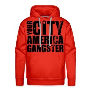 Sweat-shirt à capuche homme your city america gangster - Sweat-shirt à capuche Premium pour hommes
