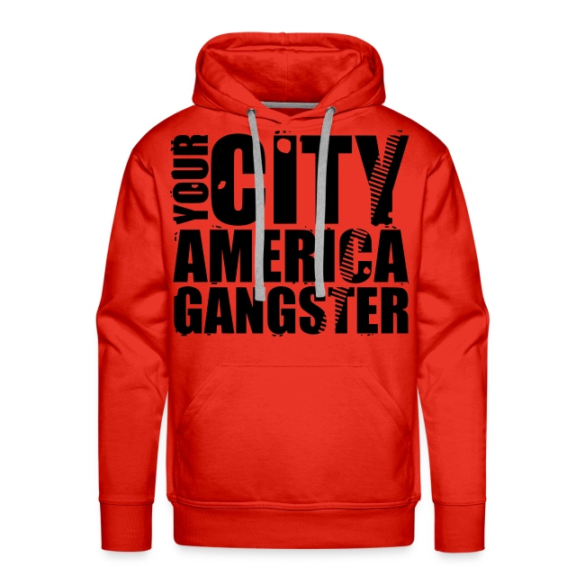 Sweat-shirt à capuche homme your city america gangster