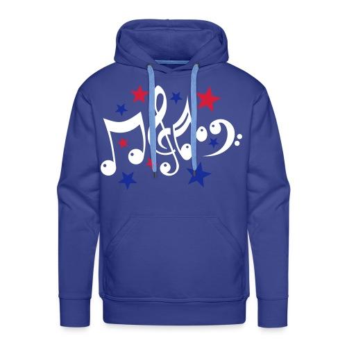 Männer Pullover Blau - Männer Premium Hoodie