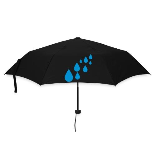 Gele paraplu met regen - Paraplu (klein)