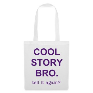 purple text tote bag - Tote Bag