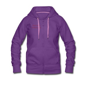 Zip Up Hoodie - Flock Crimson Text - Women's Premium Hooded Jacket