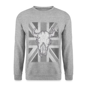 Bull Skull Union Jack Mens Sweatshirt - Men's Sweatshirt
