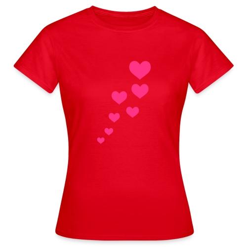 Hearts - Frauen T-Shirt