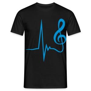 MUsik ist mein Leben(schwarz) - Männer T-Shirt