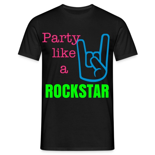Party like a Rockstar - Männer T-Shirt