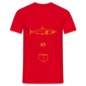 Big Fish, Small Fish, Cardboard Box - Men's T-Shirt