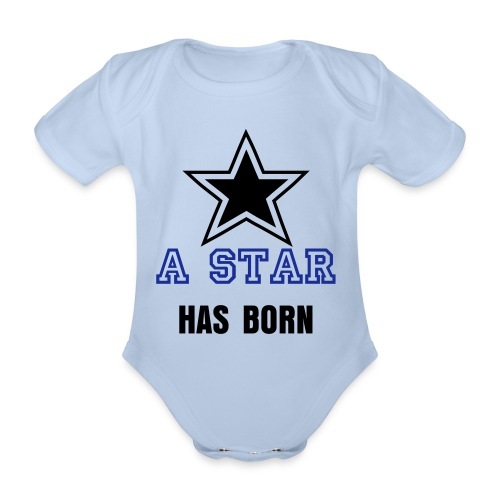 A Star has born - Baby Bio-Kurzarm-Body
