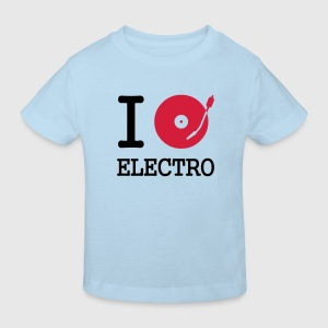 I dj / play / listen to electro :-: - Kids' Organic T-shirt