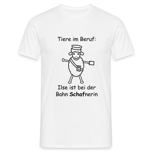 T-Shirt -- Tiere im Beruf: Schaf-nerin - Männer T-Shirt