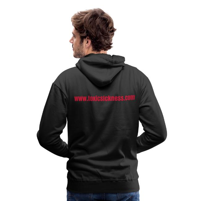 Mens red and black TS hoodie