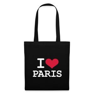 Tasche - I Love Paris - Stoffbeutel