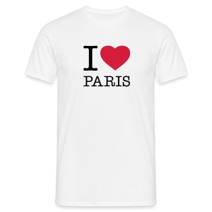 TShirt Männer- I Love Paris - Männer T-Shirt