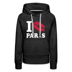 Pullover Frauen - I Love Paris - Frauen Premium Hoodie