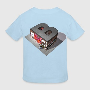 Graffiti B like Berlin - Kinder Bio-T-Shirt