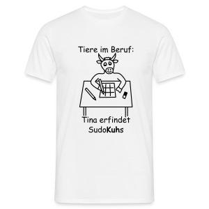 T-Shirt -- Tiere im Beruf: Sudo-Kuh - Männer T-Shirt