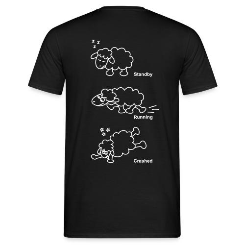 T-Shirt -- Schaf standby/running/crashed (Aufdruck hinten) - Männer T-Shirt