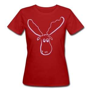 Hugo, der Elch - Frauen Bio-T-Shirt
