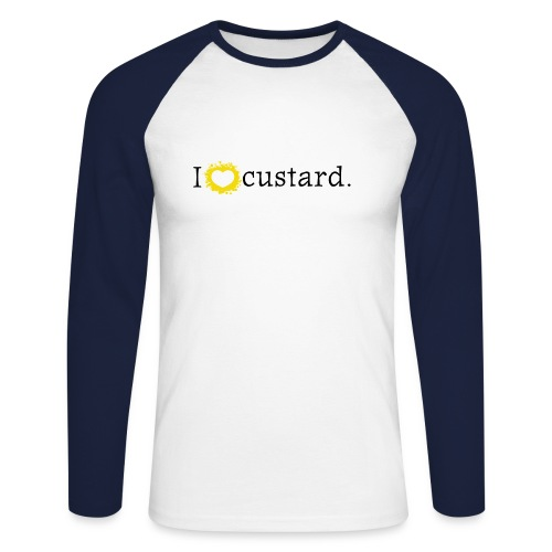 I love custard men's long sleeve - Men's Long Sleeve Baseball T-Shirt