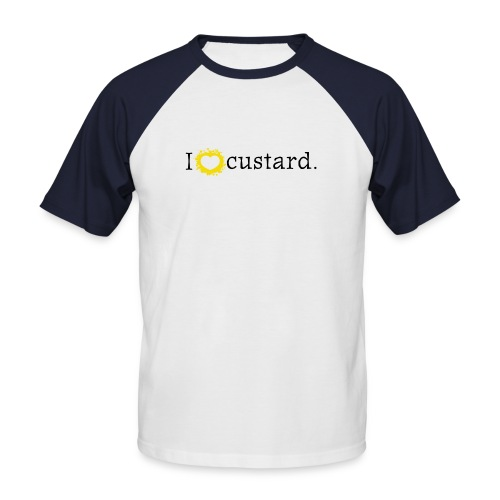 I love custard men's short sleeve baseball  - Men's Baseball T-Shirt