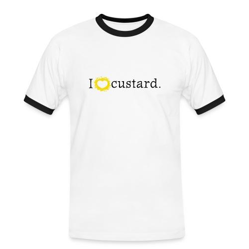 I love custard men's short sleeve football shirt  - Men's Ringer Shirt