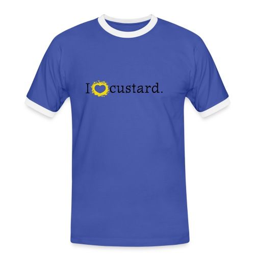 I love custard men's short sleeve contrast - Men's Ringer Shirt