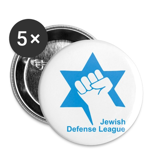 Jewish Defense League - Buttons groß 56 mm