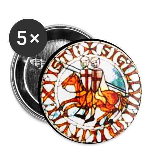 Tempelritter - Buttons groß 56 mm